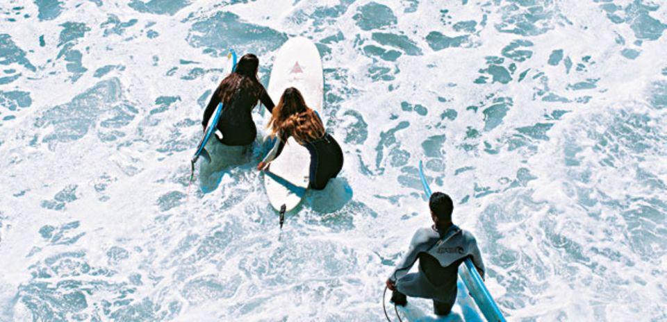 Malibus Surfer werden nie müde