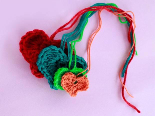 Häkelmuster: Herz häkeln - kleine Liebesbotschaft aus Wolle ...