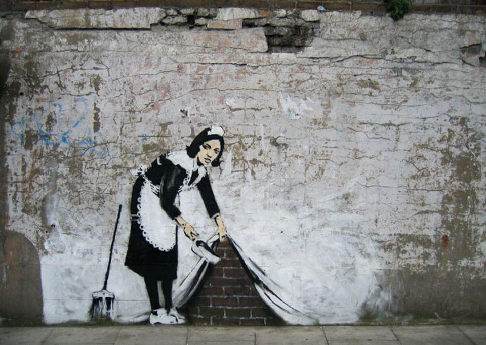 Na, heute schon einen echten Banksy entdeckt?