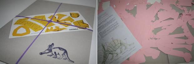 Paperwolf: Die Papierteile werden in einem Umschlag (DIN A4) geliefert.