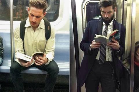 Instagram-Account feiert lesende Schönlinge in der Bahn