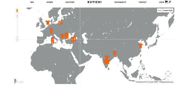 Fair produziert: Screenshot der interaktiven Weltkarte