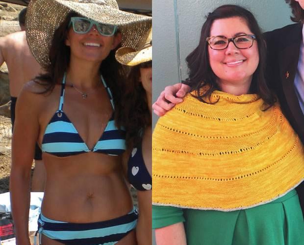 Abnehmen: Joni (li.) vor fünf Jahren, als sie 56 Kilo wog und für ihre Figur bewundert wurde. Heute wiegt sie mehr - und ist glücklicher