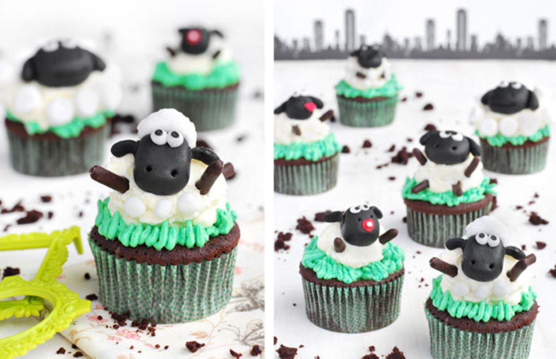Schäfchen-Cupcakes backen: Schaf Shaun lässt grüßen!