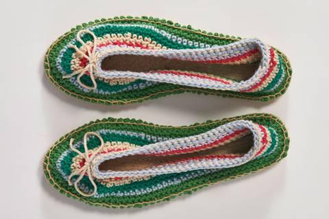 Sandalen häkeln - eine Anleitung