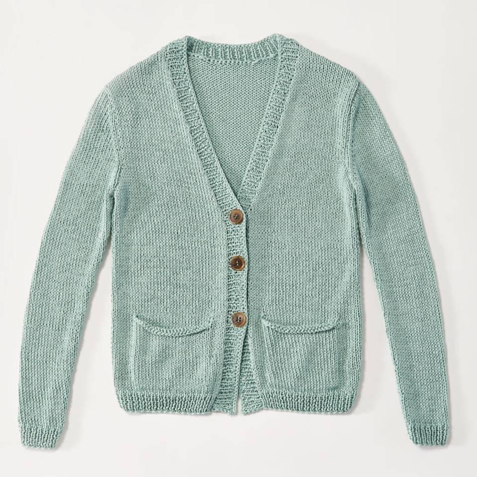 Strickjacke mit Taschen stricken - eine Anleitung
