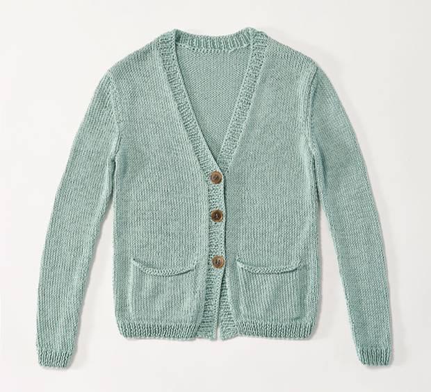 Strickmuster: Strickjacke mit Taschen stricken - eine Anleitung ...