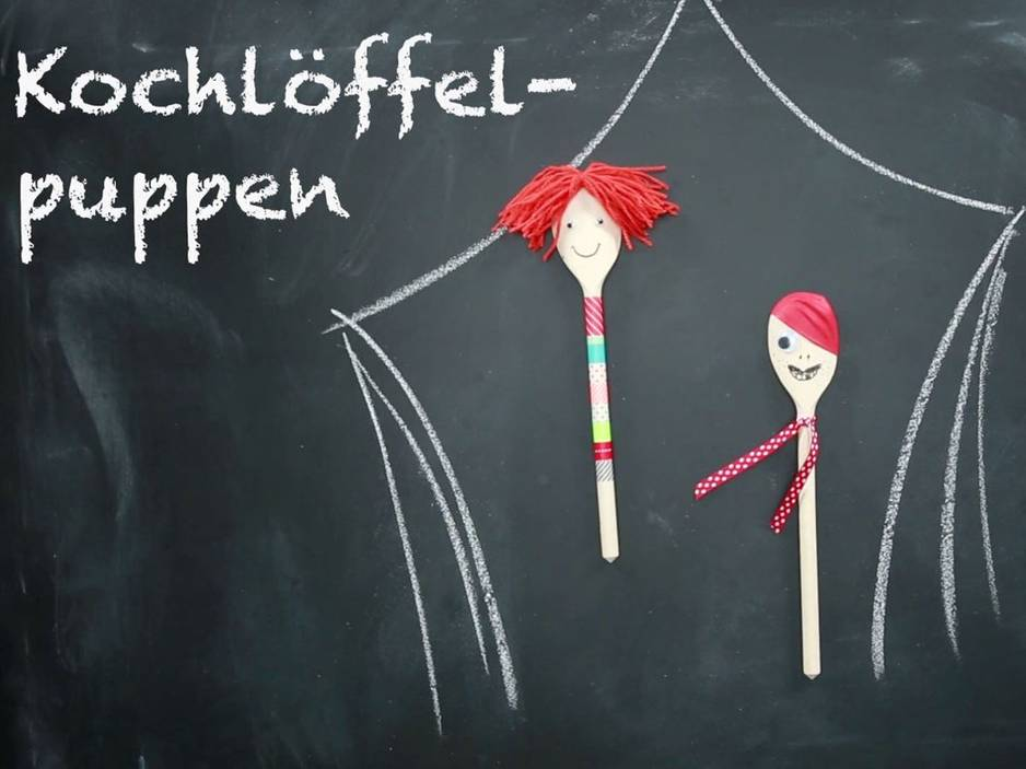 Anleitung: Kochlöffel-Puppen basteln - so geht's