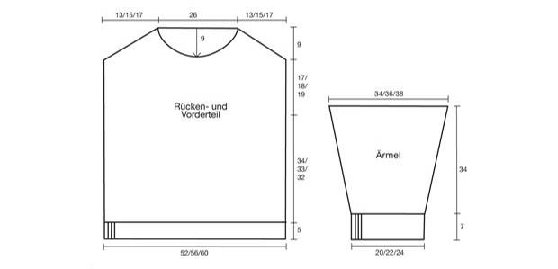 Strickmuster: Pulli mit Rundhalsausschnitt stricken - eine Anleitung