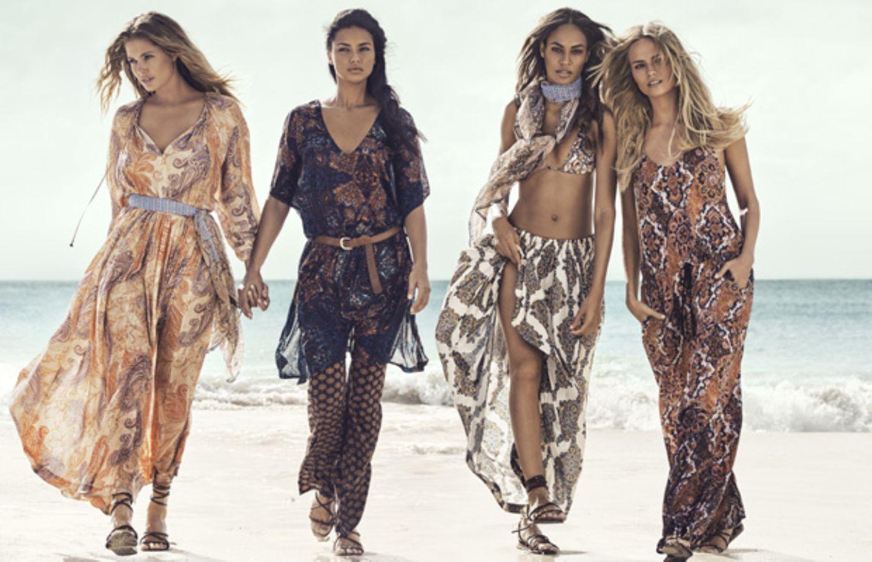 Topmodel-Treff am Strand - H&M macht Lust auf Sommer