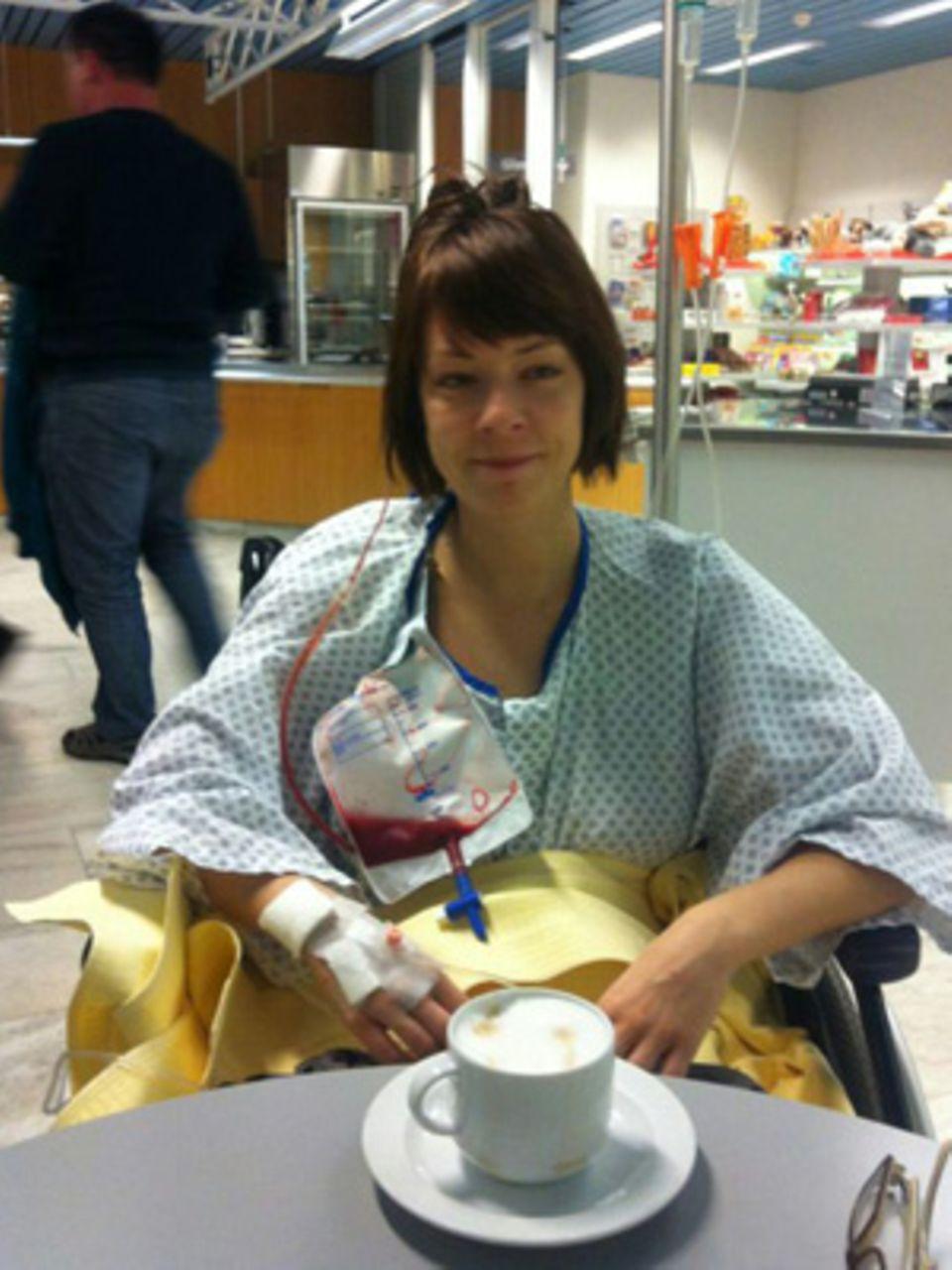 Simone Seydler in der Klinik