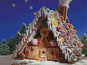 Ein Lebkuchenhaus wie aus dem Märchen