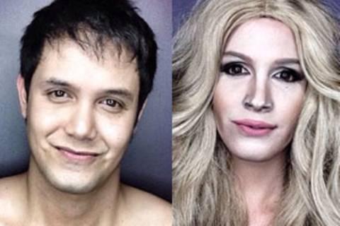 Dieser Mann verwandelt sich mit Make-up in Promis