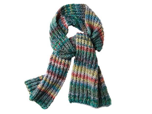Strickmuster: Einen langen Schal stricken - so geht\'s | BRIGITTE.de