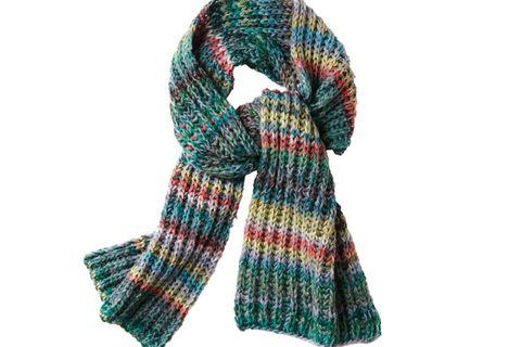 Einen langen Schal stricken - so geht's