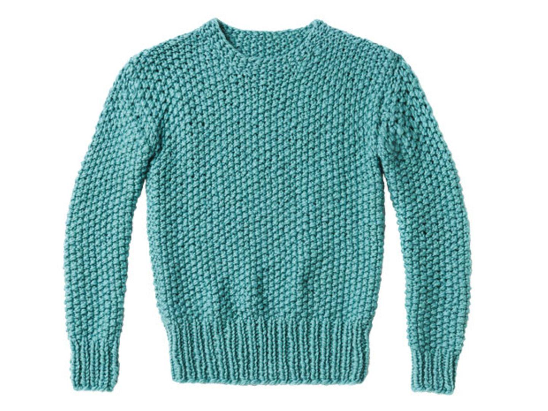 Perlmuster-Pullover stricken - eine Anleitung