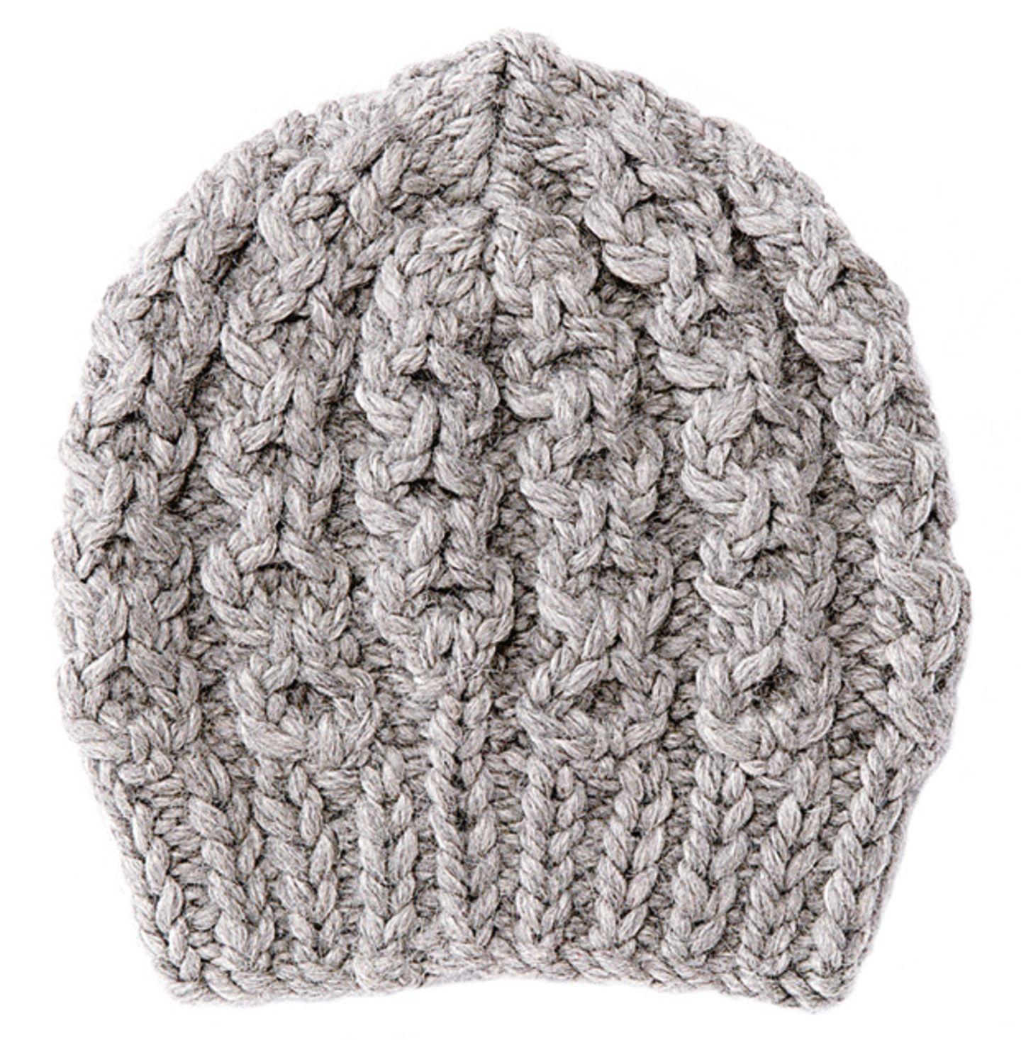 Dicke Mütze mit Zopfmuster stricken