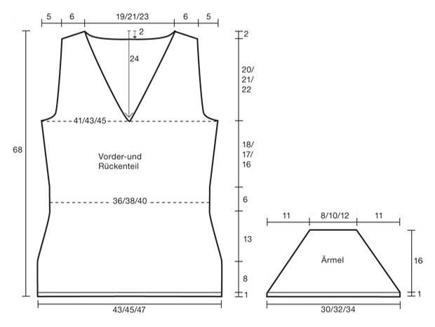 Strickmuster: Mohairpullover mit kurzen Ärmeln stricken