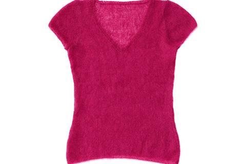Mohairpullover mit kurzen Ärmeln stricken