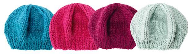 Strickmuster: Mütze mit Bündchen stricken
