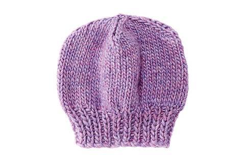 Mütze mit Bündchen stricken