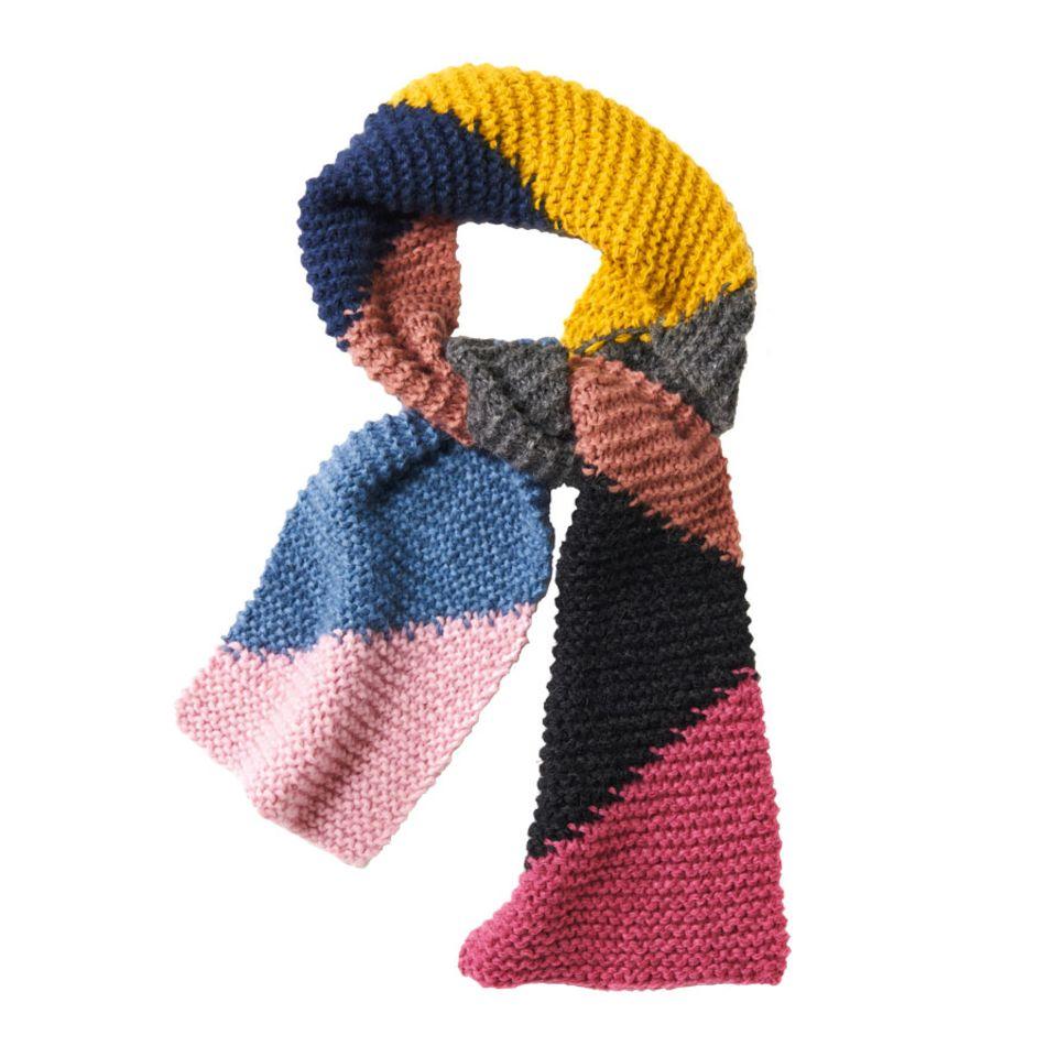 Kraus-rechts gestrickter Schal - eine Anleitung