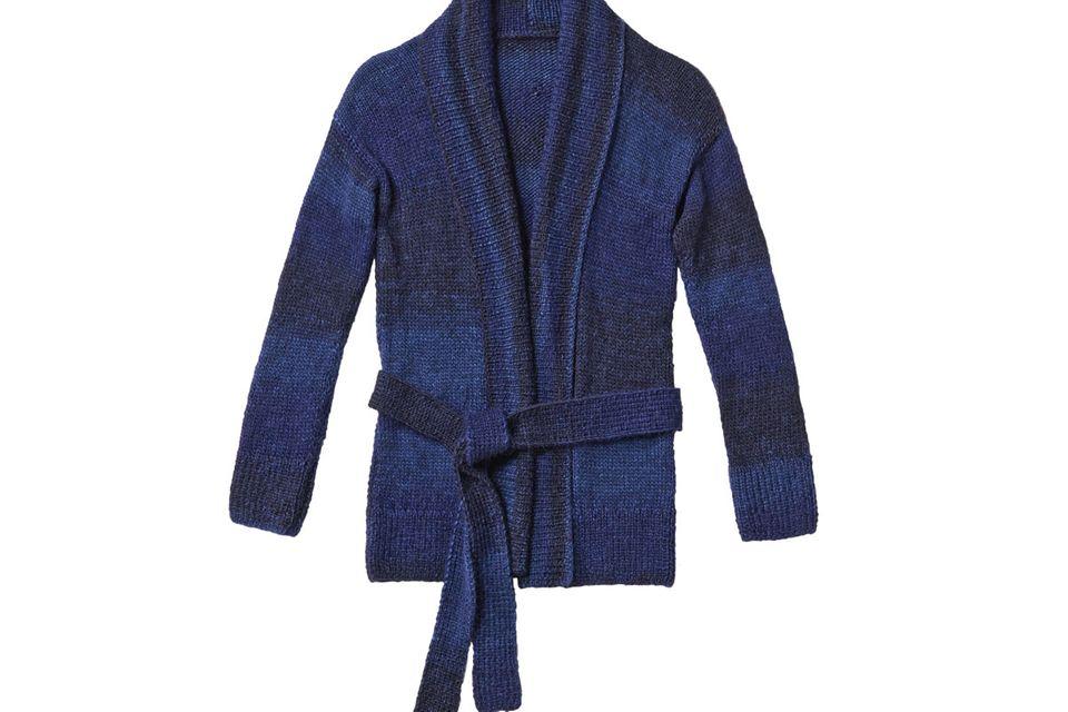 Schalkragen-Jacke stricken - eine Anleitung