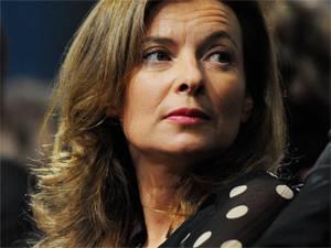 """Skandal-Buch in Frankreich: Valérie Trierweiler ist Politik-Journalistin und war von 2012 bis 2014 als Frau von François Hollande """"Première dame"""" Frankreichs."""