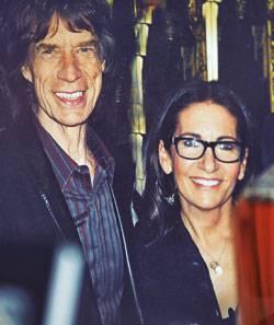 Rolling Stone: Bobbi Brown mit Mick Jagger.