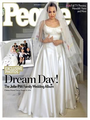 Brangelina-Hochzeit: So sah Angelina Jolie in ihrem Hochzeitskleid aus