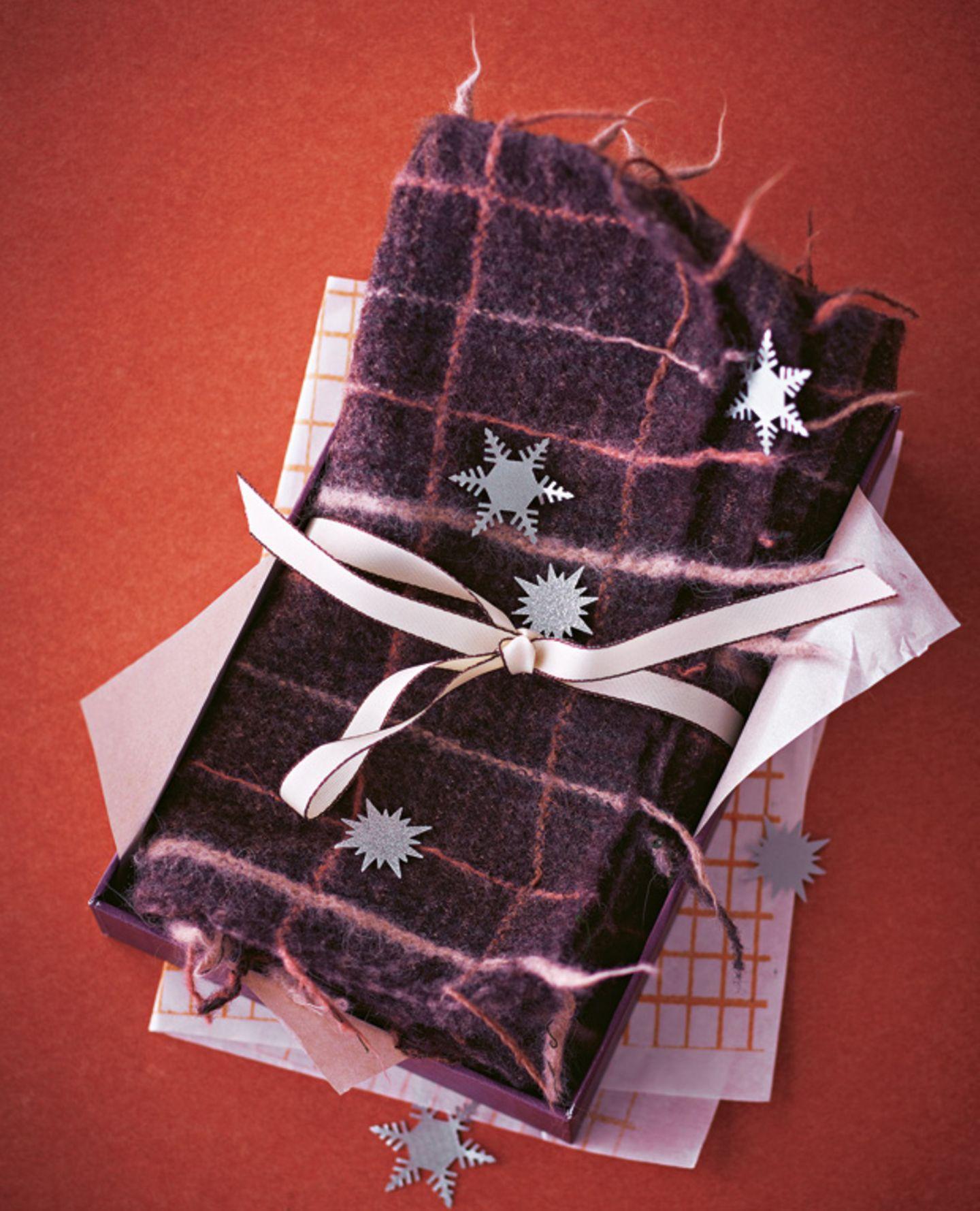 Wollschal filzen - eine Anleitung zum Nachmachen
