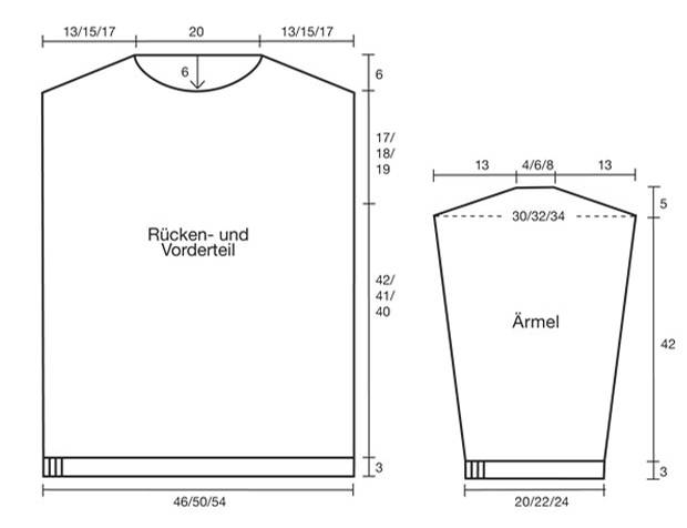 Strickmuster: Patentpullover stricken - Anleitung und Muster
