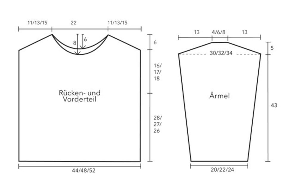 Garnmix-Pullover stricken - eine Anleitung