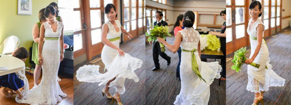 Hochzeitskleid häkeln: Diese Braut macht es vor