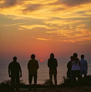 Farbzauber: Sonnenuntergang am Cabo Sardao.