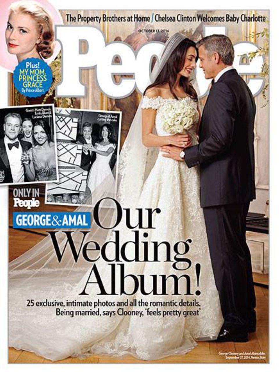 Clooney-Hochzeit: Das Hochzeitskleid von Amal Alamuddin  BRIGITTE.de