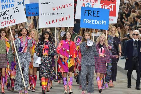 Karl Lagerfeld: Feminismus auf dem Laufsteg