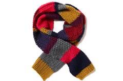 Schal mit Streifen stricken