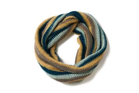 Loop mit Streifen stricken - eine Anleitung