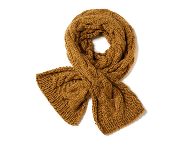 Schal mit Zopfmuster stricken - eine Anleitung