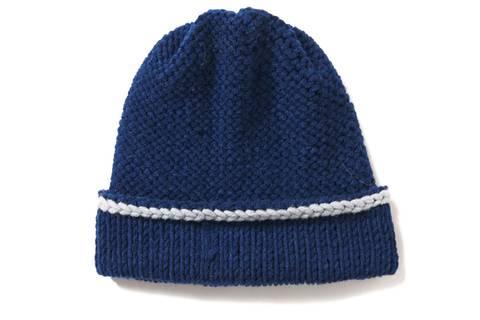Mütze mit breitem Bündchen stricken