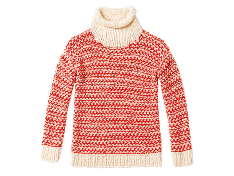 Zweifarbigen Pullover stricken - eine Anleitung