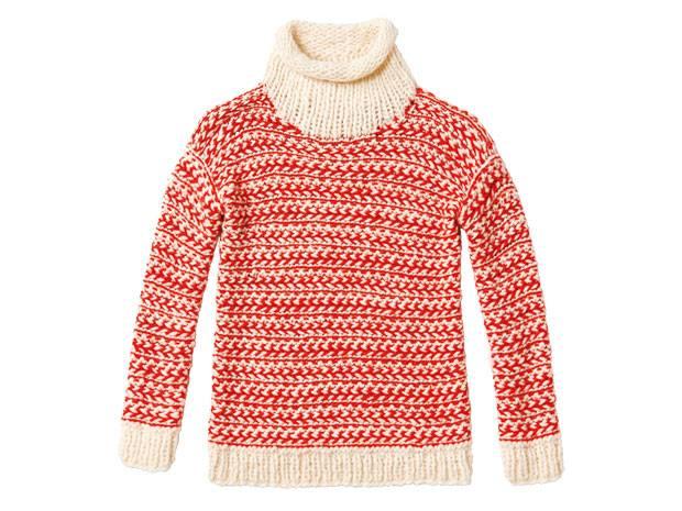 Strickmuster: Zweifarbigen Pullover stricken - eine Anleitung ...