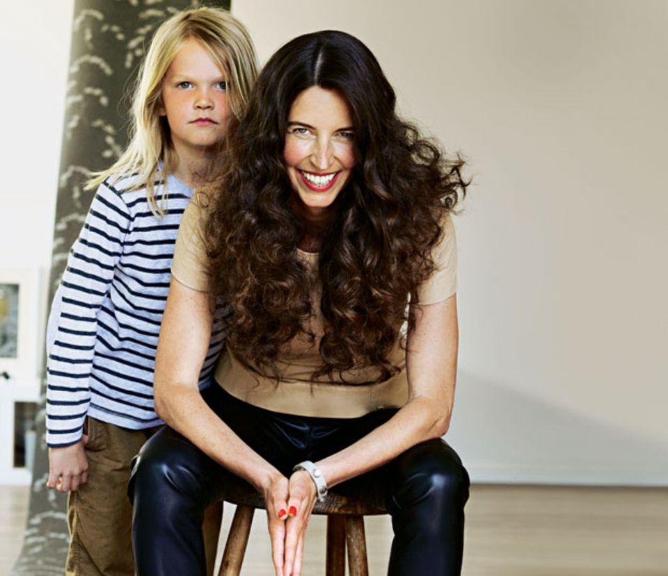 Claudia Zintl mit ihrem Sohn Nils