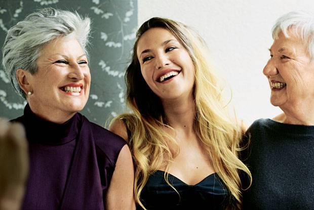 Familiengespräche: Petra Grand mit ihrer Tochter Isabel und deren Großmutter Lisa