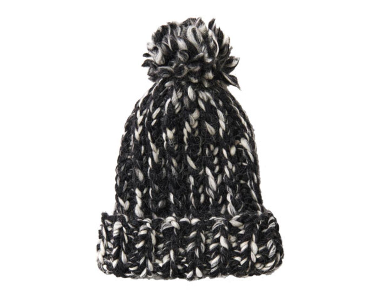 Schwarz-weiße Mütze stricken - eine Anleitung