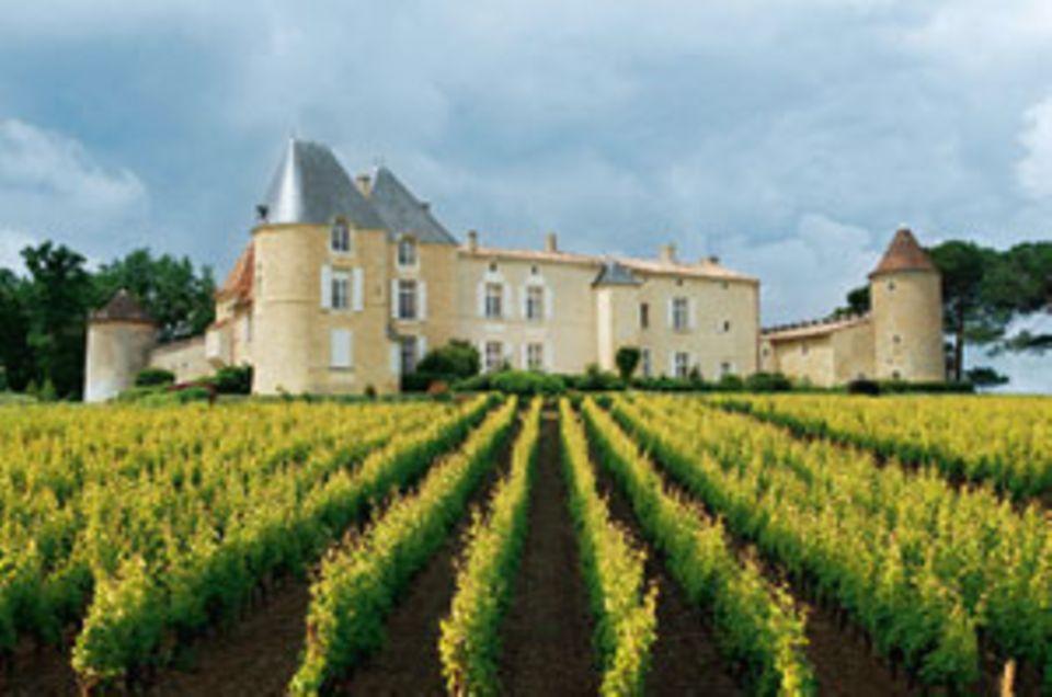 Das Château d'Yquem im Bordeaux. Dior-Wissenschaftler erforschen hier seit 30 Jahren Weinreben.