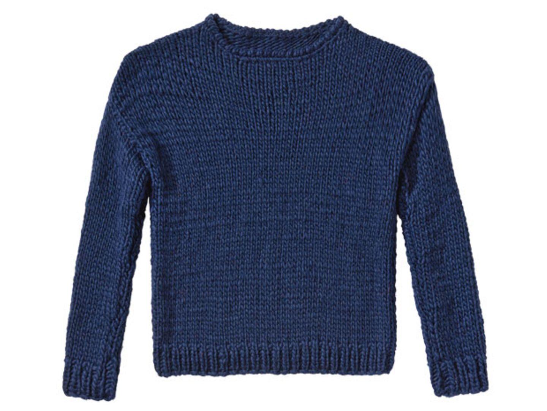 Marine-Pullover stricken - eine Anleitung