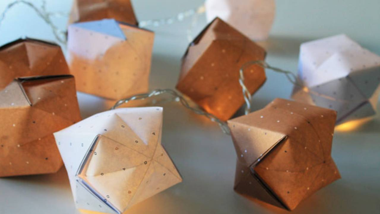 Relativ Bastelanleitungen: Origami-Lichterkette basteln - einfach QJ28