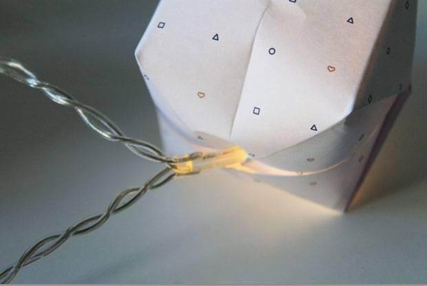 Bastelanleitungen: Origami-Lichterkette basteln - einfach selbstgemacht